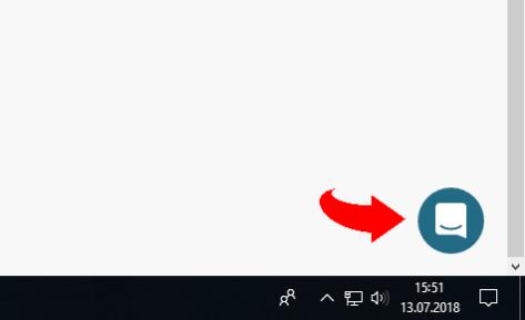 Intercom button (with arrow)